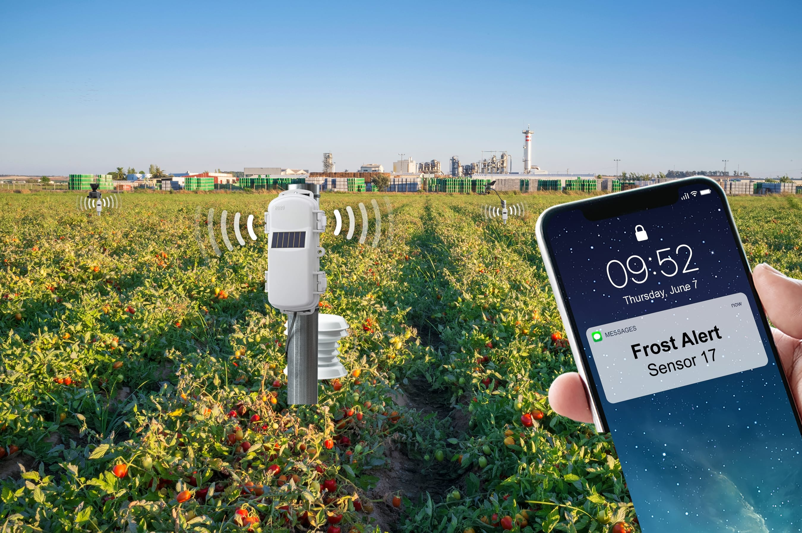 Onset HOBOnet wireless crop monitoring